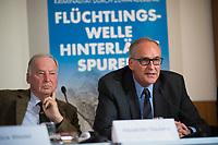 DEU, Deutschland, Germany, Berlin, 18.09.2017: Roman Reusch, Jurist und Politiker in der Partei Alternative für Deutschland (AfD), bei einer Pressekonferenz zur Islamischen Zuwanderung und Kriminalität.