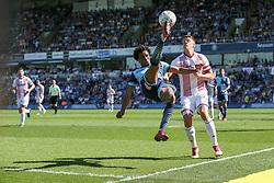 Sido Jombati of Wycombe Wanderers overhead kick - Mandatory by-line: Jason Brown/JMP - 05/05/2018 - FOOTBALL - Adam's Park - High Wycombe, England - Wycombe Wanderers v Stevenage - Sky Bet League Two