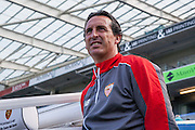 Seville manager Unai Emery during the Pre-Season Friendly match between Brighton and Hove Albion and Sevilla at the American Express Community Stadium, Brighton and Hove, England on 2 August 2015. Photo by Bennett Dean.