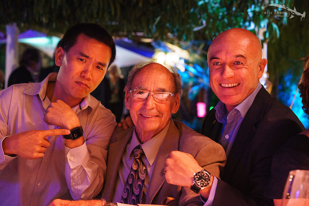 Me, with Ernie Brooks and Manu San Felix. I have watch envy. Pebble vs. Blancpain!