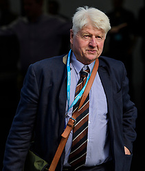 © Licensed to London News Pictures. 04/10/2017. Manchester, UK.STANLEY JOHNSON, father of Boris Johnson,  at Conservative Party Conference. The four day event is expected to focus heavily on Brexit, with the British prime minister hoping to dampen rumours of a leadership challenge. Photo credit: Ben Cawthra/LNP