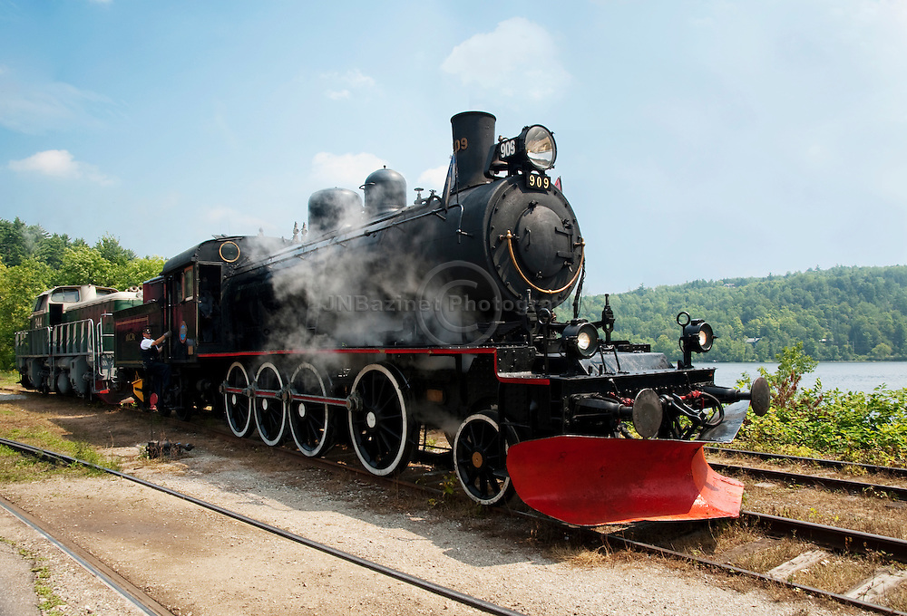 One of two remaining steam engine's in Canada is located in Western Quebec's Wakefield town.