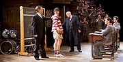 Forty Years On <br /> by Alan Bennett <br /> at Festival Theatre Chichester , Great Britain <br /> press photocall <br /> 25th April 2017 <br /> <br /> Richard Wilson as Headmaster <br /> <br /> Alan Cox as Franklin <br /> <br /> <br /> Michael Hamway as Tregold - rugby boy <br /> <br /> <br /> <br /> <br /> Photograph by Elliott Franks <br /> Image licensed to Elliott Franks Photography Services