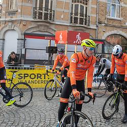 31-03-2019: Wielrennen: Kattekoers: Ieper<br /> Ide Schelling, David Dekker, Daan van Sintmaartensdijk, Maikel Zijlaard