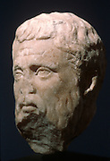 GREECE, HISTORIC ART AND ARTIFACTS Bust of Plato from the 4thC B.C.; from the National Museum
