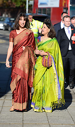 Samantha Cameron during a visit to Neasden Temple for Diwali celebrations, Neasden Temple, London, United Kingdom. Monday, 4th November 2013. Picture by Andrew Parsons / i-Images