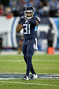 Tennessee Titans free safety Kevin Byard (31) points during the week 14 regular season NFL football game against the Jacksonville Jaguars on Thursday, Dec. 6, 2018 in Nashville, Tenn. The Titans won the game 30-9. (©Paul Anthony Spinelli)