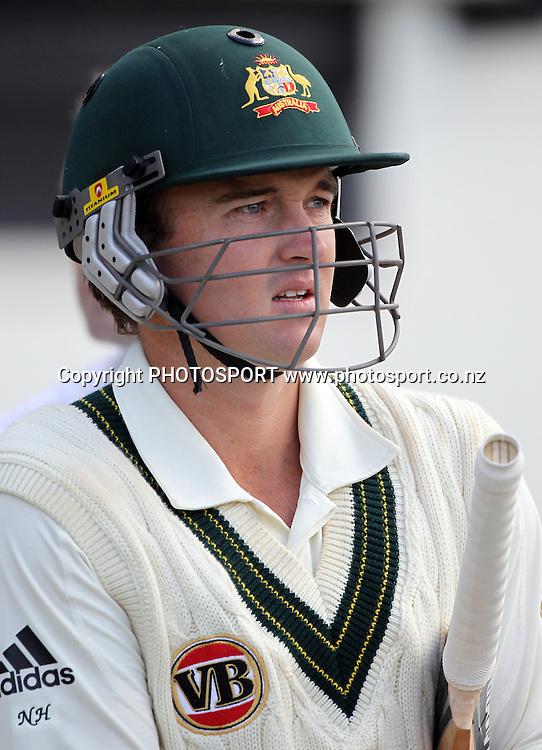Australia's Nathan Hauritz.<br />Test Match Cricket. 2nd test. Day 4.<br />New Zealand Black Caps versus Australia. Seddon Park, Hamilton, New Zealand. Tuesday 30 March 2010. <br />Photo: Andrew Cornaga/PHOTOSPORT