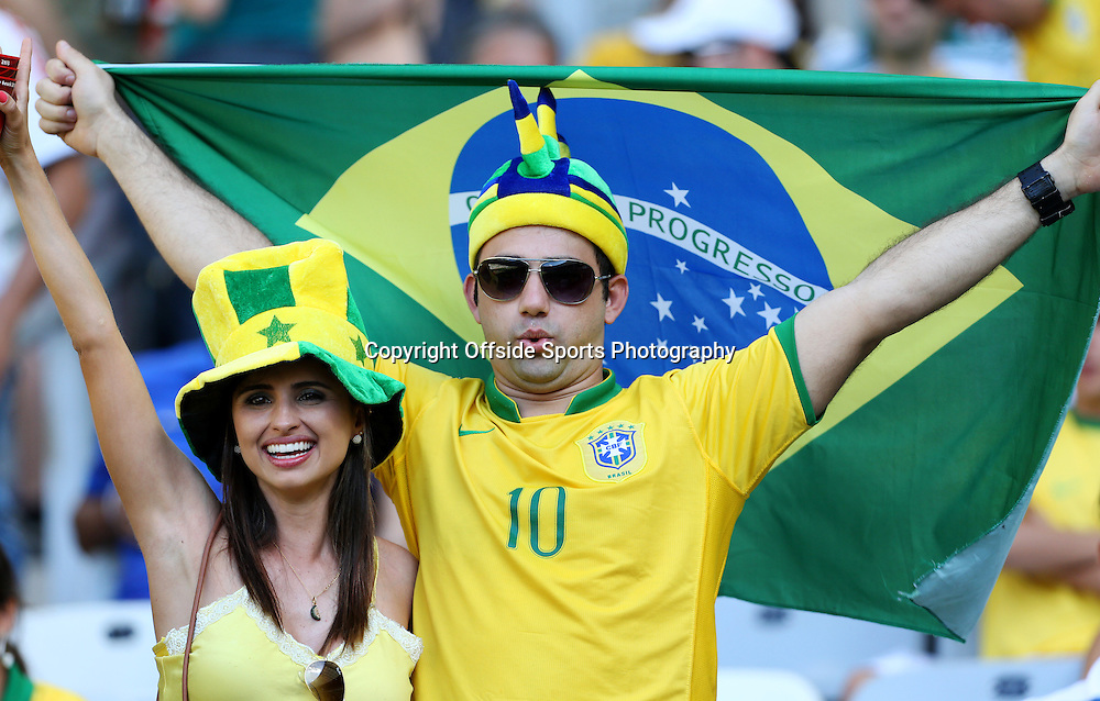 26th June 2013 - FIFA Confederations Cup 2013 (Semi-Final) - Brazil v Uruguay - Brazil fans cheer on their side - Photo: Simon Stacpoole / Offside.