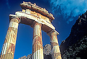 GREECE, HISTORIC SITES, DELPHI Tholos or Rotunda, Sanctuary of Athena