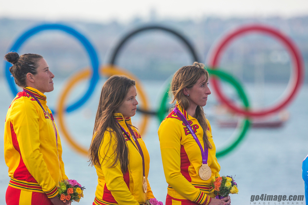 GOLD:<br /> Echegoyen Tamara, Toro Sofia, Pumariega Angela, (ESP, Match Race)<br /> <br /> 2012 Olympic Games <br /> London / Weymouth