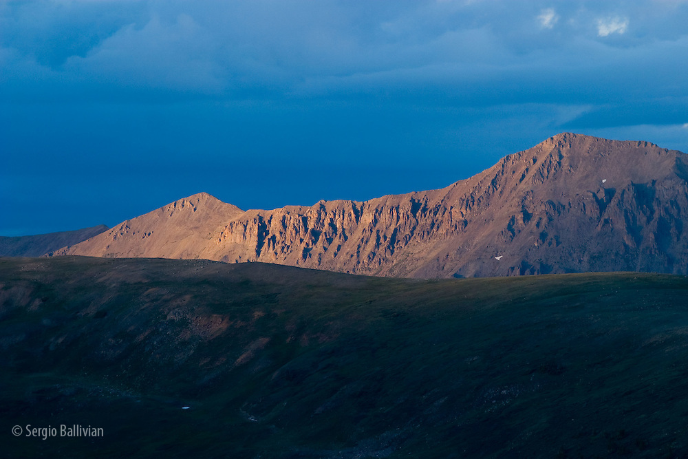 Sunset over Taylor Pass in the Rocky Mountains near Ashcroft, Colorado