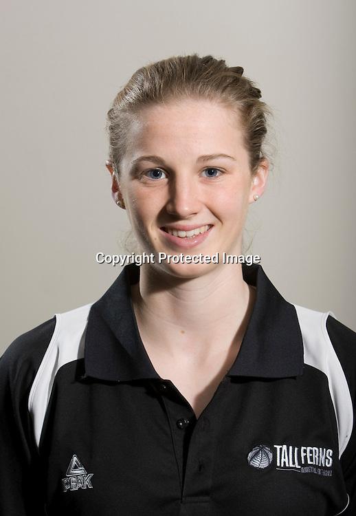 Erin Rooney, Guard. Tall Ferns Basketball team headshots. Napier, New Zealand, Friday 28 August 2009. Photo: John Cowpland/PHOTOSPORT