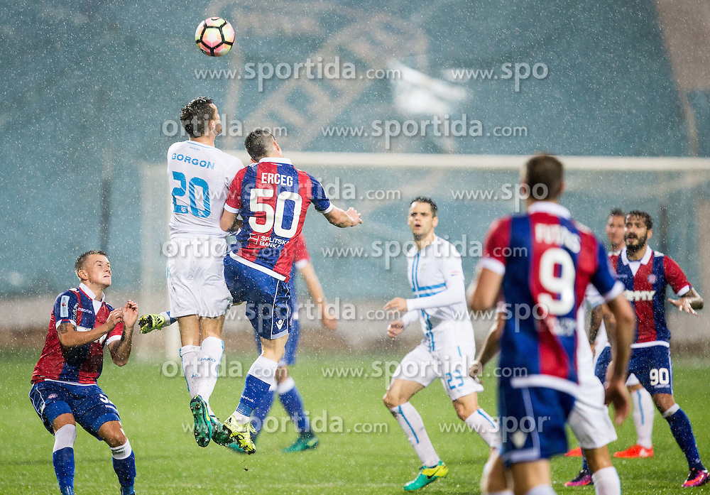 Alexander Gorgon of HNK Rijeka vs Ante Erceg of HNK Hajduk during football match between HNK Rijeka and HNK Hajduk Split in Round #15 of 1st HNL League 2016/17, on November 5, 2016 in Rujevica stadium, Rijeka, Croatia. Photo by Vid Ponikvar / Sportida
