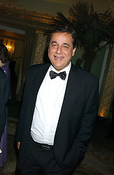 DR HASNAT KHAN a friend of the late Diana, Princess of Wales at the Chain of Hope 10th Anniversary Ball held at The Dorchester, Park Lane, London on 1st November 2005.<br />