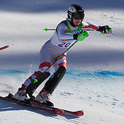 Winter Olympics, Vancouver, 2010.Kathrin Zettel, Austria, in action in the Alpine Skiing Ladies Super Combined competition at Whistler Creekside, Whistler, during the Vancouver Winter Olympics. 18th February 2010. Photo Tim Clayton