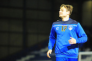 Timmy Thiele of Oldham Athletic (On loan from Burton Albion) during the Sky Bet League 1 match between Oldham Athletic and Blackpool at SportsDirect.Com Park, Oldham, England on 15 March 2016. Photo by Mike Sheridan.