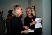 Ghislaine Graziani; Miss Juliette Bilgraim, Benno Graziani: Memories Of Summer, Hamiltons Gallery. London. 16 September 2009.