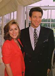 MR & MRS STEVE WYATT he is a former friend of Sarah, Duchess of York, at a polo match in Berkshire on 14th June 1998.MII 95