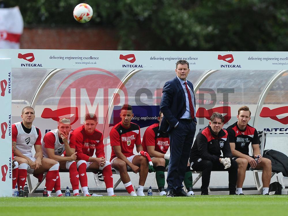 Bristol City manager, Steve Cotterill watches on  - Mandatory byline: Joe Meredith/JMP - 07966386802 - 29/08/2015 - FOOTBALL - Ashton Gate -Bristol,England - Bristol City v Burnley - Sky Bet Championship