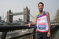 Virgin Money London Marathon 2015<br /> Left to Right<br /> Hugo Taylor-UK ( in Made in Chelsea)  one of the celebrities  competing in the Virgin Money London Marathon<br /> <br /> Photo: Bob Martin for Virgin Money London Marathon<br /> <br /> This photograph is supplied free to use by London Marathon/Virgin Money.