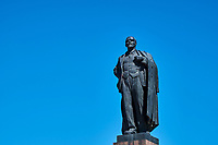 Russie, Region de la Volga, Oblast d'Astrakhan, Ville d'Astrakhan, statue de Lenine devant le Kremlin // Russia, Volga region, Astrakhan city, Lenin Statue in front of Kremlin