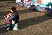 Mom handles a meltdown at the end of a long day at the Clallam County Fair