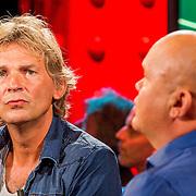 NLD/Amsterdam/20130828- Vara Najaarspresentatie 2013, Matthijs van Nieuwkerk in gesprek met Paul de Leeuw