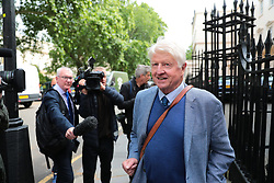 © Licensed to London News Pictures. 12/06/2019. London, UK. Stanley Johnson arrives at the official launch event for Boris Johnson's campaign to become Leader of the Conservative Party and the next Prime Minister. Photo credit: Rob Pinney/LNP