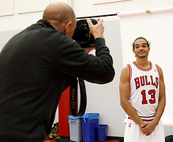 11.12.2011, The Berto Center, Deerfield, USA, NBA, Chicago Bulls Medien Tag, im Bild JOAKIM NOAH CHICAGO BULLS // during Chicago Bulls Media Day at the Berto Center, Deerfield, United Staates on 2011/12/11. EXPA Pictures © 2011, PhotoCredit: EXPA/ Newspix/ Kamil Krzaczynski..***** ATTENTION - for AUT, SLO, CRO, SRB, SUI and SWE only *****