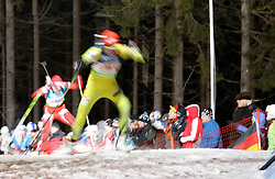 04.01.2012, DKB-Ski-ARENA, Oberhof, GER, E.ON IBU Weltcup Biathlon 2012, Staffel Frauen, im Bild Feature Anstieg .// during relay Ladies of E.ON IBU World Cup Biathlon, Thüringen, Germany on 2012/01/04. EXPA Pictures © 2012, PhotoCredit: EXPA/ nph/ Hessland..***** ATTENTION - OUT OF GER, CRO *****