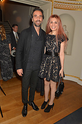 LUCA LONGOBARDI and NEVENA NIKOLOVA at an evenig of Jewellery & Photography to launch the Buccellati 'Opera Collection' held at Spencer House, London on 21st October 2015.