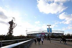 A general view of the ground ahead of the Premier League match at The London Stadium, London.