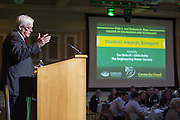 Dennis Irwin, the Dean of the Russ College of Engineering and Technology, gives an introductory speech at the Fritz J. and Dolores H. Russ College of Engineering and Technology Student Awards Banquet, hosted by Tau Beta Pi, the engineering honor society at Ohio University, on April 10, 2016. (Photo by Emily Matthews