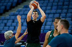 Vlatko Cancar of Slovenian National Basketball team attend a training session ahead of the FIBA EuroBasket 2017 match between Slovenia and Poland at Hartwall Arena in Helsinki, Finland on August 30, 2017. Photo by Vid Ponikvar / Sportida