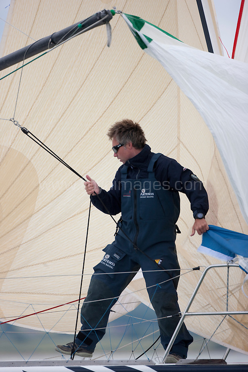 """Pictures of solo yachtsman Jonny Malbon training in the Solent onboard his """"Artemis Figaro"""". Jonny is due compete in the 2009 """"Solitaire du Figaro"""".Credit all pictures:Lloyd Images.."""