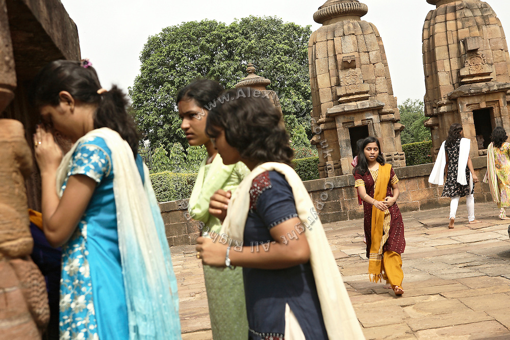 Devotees are praying in the temple of Mukteswar in Bhubaneswar, the capital of Orissa State, India, on Friday, May 16, 2008. Bhubaneswar is also known as the City of Temples as they are widely present in the city. **Italy and China Out**