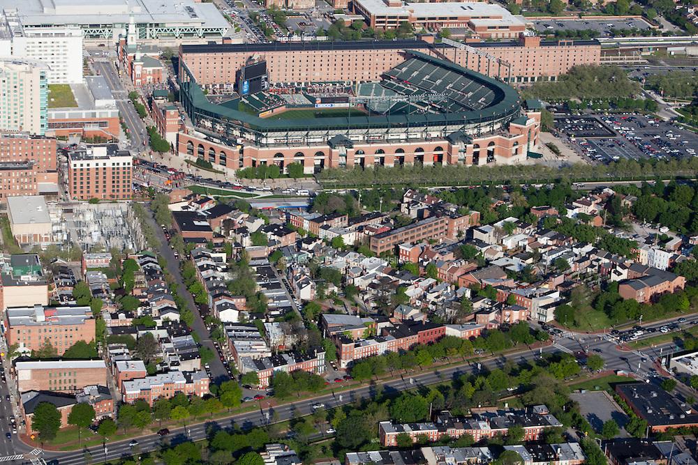 Camdem Yards Stadium and nearby neighborhood
