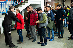 Security checking fans prior to the Football match between NK Triglav and NK Maribor in 25th Round of Prva liga Telekom Slovenije 2018/19, on April 6, 2019, in Sports centre Kranj, Slovenia. Photo by Vid Ponikvar / Sportida