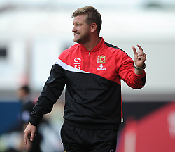 Milton Keynes Dons Manager, Karl Robinson - Photo mandatory by-line: Dougie Allward/JMP - Mobile: 07966 386802 - 27/09/2014 - SPORT - Football - Bristol - Ashton Gate - Bristol City v MK Dons - Sky Bet League One