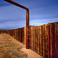 Abandoned cattle corral along Cima Road near Cima California within the Mojave National Preserve.