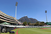 General view of the ground set against Table Mountain  during the One Day International match between South Africa and England at PPC Newlands, Capetown, South Africa on 4 February 2020.