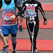 London, England, UK. 28 April 2019. Virgin Money London Marathon - Finishline at Pall Mall.