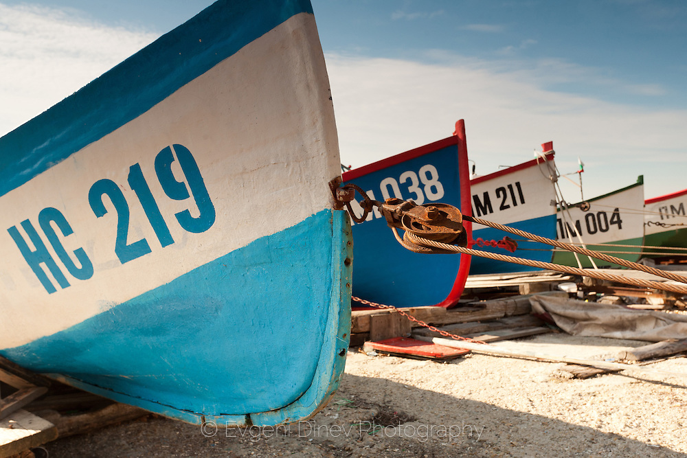 Fishing boats in port of Pomorie