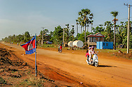 The road in the middle between siem reap and phnom penh, cambodia