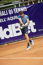 June 22, 2018 - L'Aquila, Italy - Gianluigi Quinzi during match between Guilherme Clezar (BRA) and Gianluigi Quinzi (ITA) during day 7 at the Internazionali di Tennis Citt dell'Aquila (ATP Challenger L'Aquila) in L'Aquila, Italy, on June 22, 2018. (Credit Image: © Manuel Romano/NurPhoto via ZUMA Press)