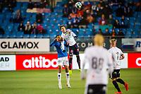 Fotball , 10 November 2019 , Eliteserien , Molde - Strømsgodset , Ohikhuaeme Anthony Omoijuanfo og Lars-Christopher Vilsvik<br /> <br /> <br /> , Foto: Marius Simensen, Digitalsport