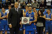 BIELLA 16 DICEMBRE 2012<br /> BASKET ALL STAR GAME<br /> NAZIONALE ITALIANA - ALL STAR<br /> NELLA FOTO GENTILE DINO MENEGHIN ARIADNA ROMERO<br /> FOTO CIAMILLO