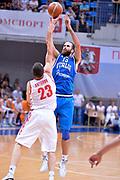 DESCRIZIONE : Mosca Moscow Qualificazione Eurobasket 2015 Qualifying Round Eurobasket 2015 Russia Italia Russia Italy<br /> GIOCATORE : Luigi Datome<br /> CATEGORIA : Tiro Three Points<br /> EVENTO : Mosca Moscow Qualificazione Eurobasket 2015 Qualifying Round Eurobasket 2015 Russia Italia Russia Italy<br /> GARA : Russia Italia Russia Italy<br /> DATA : 13/08/2014<br /> SPORT : Pallacanestro<br /> AUTORE : Agenzia Ciamillo-Castoria/GiulioCiamillo<br /> Galleria: Fip Nazionali 2014<br /> Fotonotizia: Mosca Moscow Qualificazione Eurobasket 2015 Qualifying Round Eurobasket 2015 Russia Italia Russia Italy<br /> Predefinita :