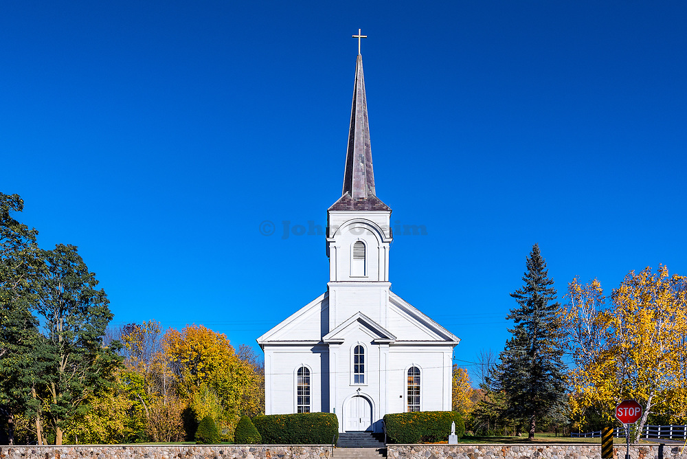 St Genevieve church, Shoreham, Vermont, USA.
